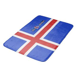 Icelandic flag bath mat