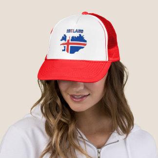 Icelandic flag trucker hat
