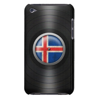 Icelandic Flag Vinyl Record Album Graphic Barely There iPod Covers