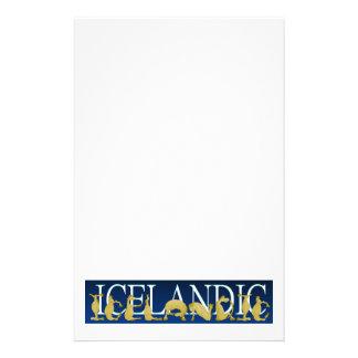 Icelandic flexible alphabet pony stationery paper