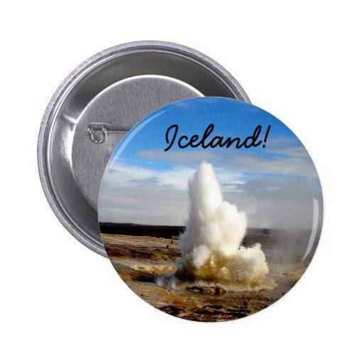 Icelandic Geyser Pinback Button