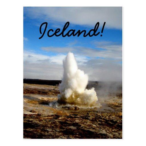 Icelandic Geyser Post Card