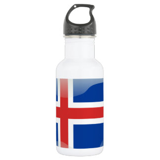 Icelandic glossy flag 532 ml water bottle