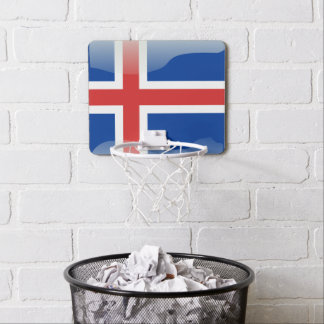 Icelandic glossy flag mini basketball hoop