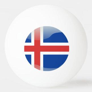 Icelandic glossy flag ping pong ball
