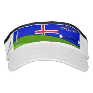 Icelandic golfer visor