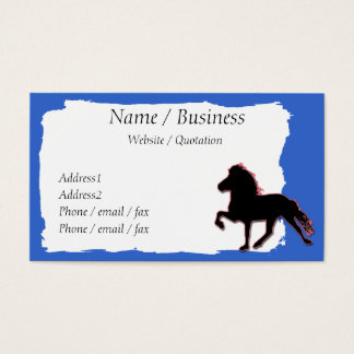 Icelandic Horse Banner Profile Business Card