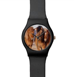 Icelandic Horse during winter Wrist Watches