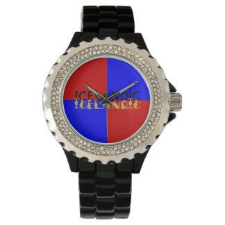 Icelandic Horse | Flag of Iceland Wrist Watch