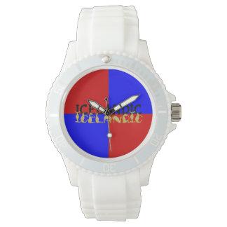 Icelandic Horse | Flag of Iceland Wristwatch
