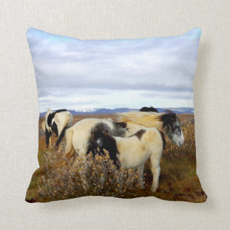 Icelandic Horses Throw Throw Pillow