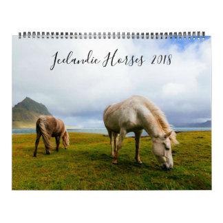Icelandic Horses Wildlife Photography Calendar