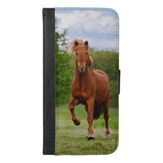 Icelandic Pony at a Tölt Funny Photo Horse Lovers iPhone 6/6s Plus Wallet Case