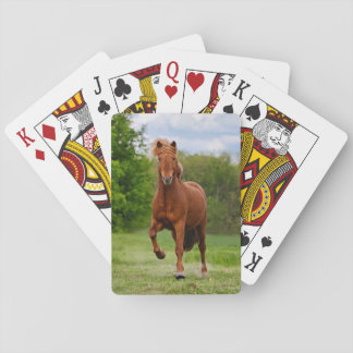 Icelandic Pony at a Tölt Funny Photo Horse Lovers Playing Cards