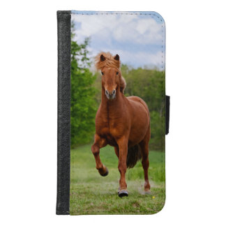 Icelandic Pony at a Tölt Funny Photo Horse Lovers Samsung Galaxy S6 Wallet Case