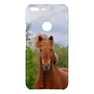 Icelandic Pony Front Head Funny Photo Horse Lovers Uncommon Google Pixel XL Case