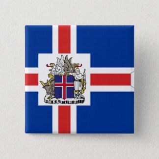 Icelandic Presidential, Iceland flag 15 Cm Square Badge