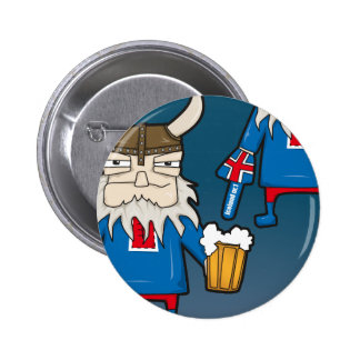 Icelandic Viking Fan Button