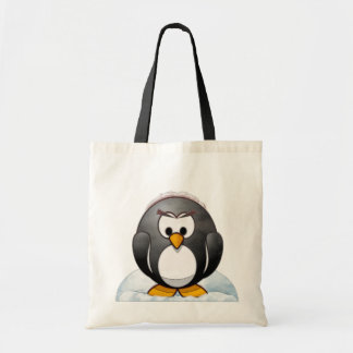 Icey Penguin Cartoon Tote Bag