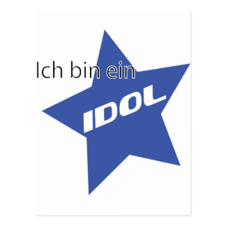 Ich bin ein Idol icon Post Cards