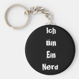 Ich Bin Ein Nerd Basic Round Button Key Ring