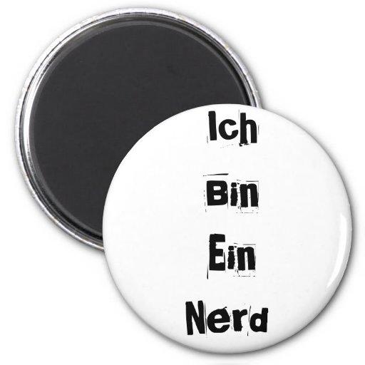 Ich Bin Ein Nerd Refrigerator Magnet