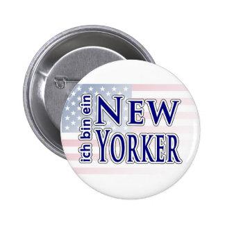 """""""ich bin ein New Yorker"""" Pinback Buttons"""