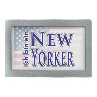 """""""ich bin ein New Yorker"""" Rectangular Belt Buckles"""