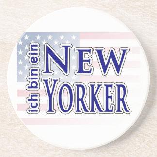 """""""ich bin ein New Yorker"""" Beverage Coasters"""