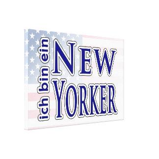 """""""ich bin ein New Yorker"""" Gallery Wrap Canvas"""