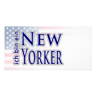 """""""ich bin ein New Yorker"""" Customised Photo Card"""