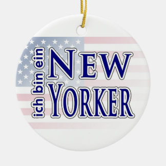 """ich bin ein New Yorker"" Christmas Ornament"