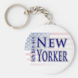 """""""ich bin ein New Yorker"""" Keychains"""