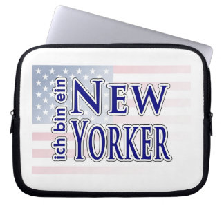 """ich bin ein New Yorker"" Laptop Sleeves"