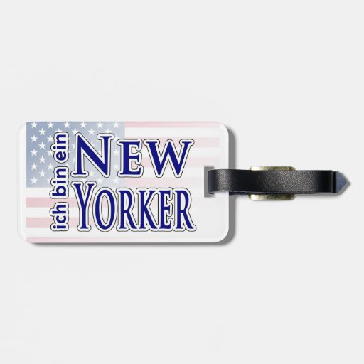 """ich bin ein New Yorker"" Luggage Tag"