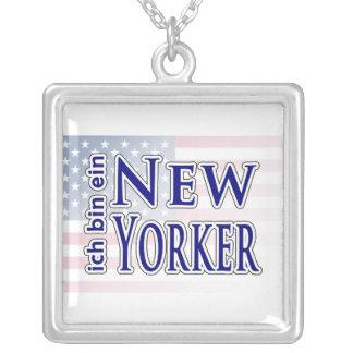 """""""ich bin ein New Yorker"""" Square Pendant Necklace"""