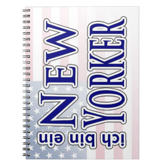 """ich bin ein New Yorker"" Spiral Note Books"