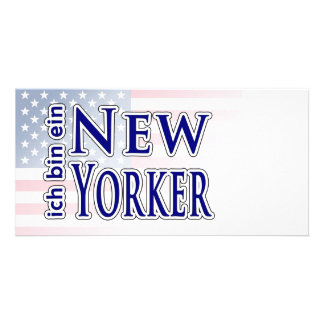 """ich bin ein New Yorker"" Picture Card"