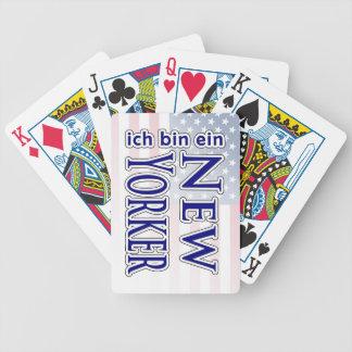 """""""ich bin ein New Yorker"""" Poker Cards"""