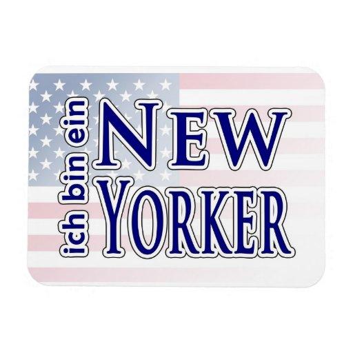"""""""ich bin ein New Yorker"""" Flexible Magnet"""