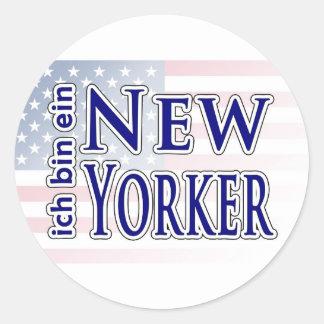 """""""ich bin ein New Yorker"""" Round Sticker"""