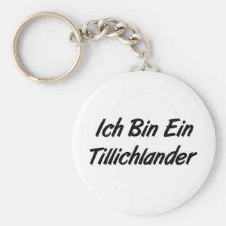 Ich Bin Ein Tillichlander Basic Round Button Key Ring