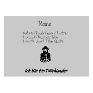 Ich Bin Ein Tillichlander Pack Of Chubby Business Cards