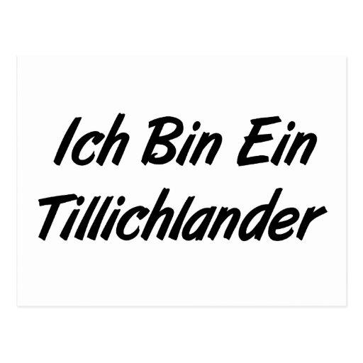 Ich Bin Ein Tillichlander Postcards