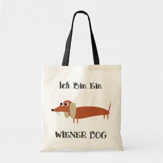 Ich Bin Ein Wiener Dog I Am A Dachshund Budget Tote Bag