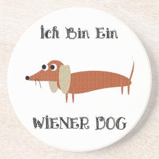 Ich Bin Ein Wiener Dog I Am A Dachshund Beverage Coaster