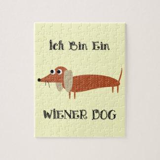 Ich Bin Ein Wiener Dog I Am A Dachshund Puzzle
