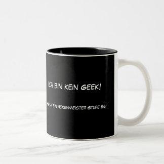 Ich bin kein Geek! Two-Tone Mug