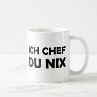 Ich Chef du nix black icon Coffee Mug