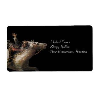Ichabod Crane of Sleepy Hollow Shipping Label